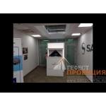 Оснащение шоу-рума французской компании Safran интерактивным оборудованием интерактивный стол, видеостена из орионов, голографическая пирамида.